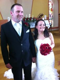 Bernie and Alan on their wedding day.