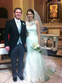 Brendan and Orla on their wedding day.