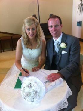 Arlene and Diarmuid on their wedding day.