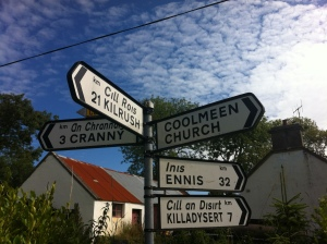 Coolmeen Cross sign