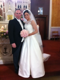 Martina and Colm on their wedding day.