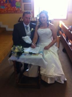 Lorraine and Richard on their weddings day.
