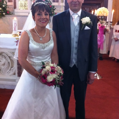 Geraldine and Niall on their wedding day.