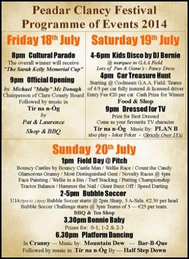 Peadar Clancy Festival 2014