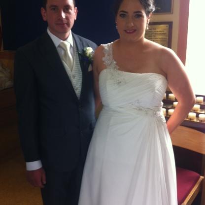 Melissa and Thomas on their wedding day.