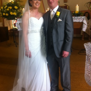 Yvonne Hehir, Carrowcreigh East and Thomas O'Connor, Kilmaley on their wedding day.