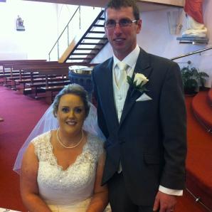 John Noel and Tina on their wedding day.