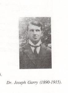 Dr Joseph Garry (1890-1915)