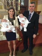 Cathal and Clive Stephens on their baptism day 16 April, 2016.