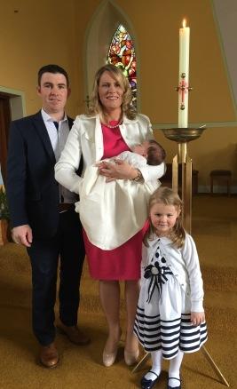 Lauren McMahon on her baptism day 16 April 2016.
