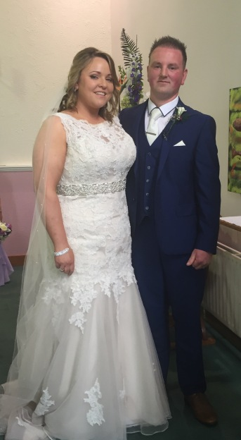 Catherine and Martin on their wedding day.
