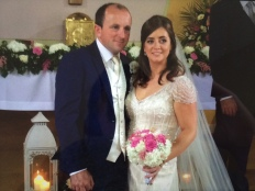 Martina and Brian on their wedding day.