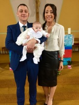 Mallaidh Caitlin Brooks on her baptism day, 7 May 2016.
