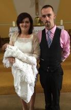 Moya Rose Moloney on her baptism day 14 July 2016,
