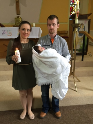 Layla Faye O'Dea on her baptism day - 27 August 2016.