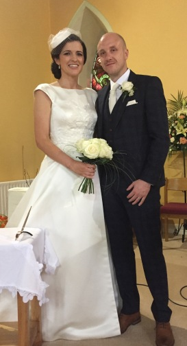 Orla Shannon and Richie Tibble on their wedding day.