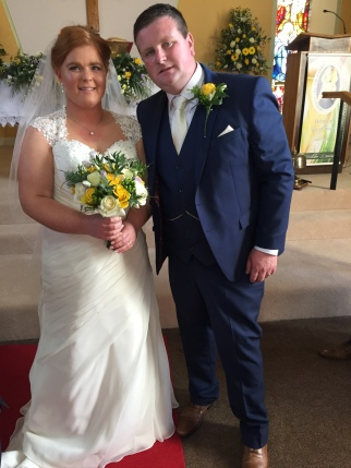 Niamh O'Connell and Maurice Lucas on their wedding day.