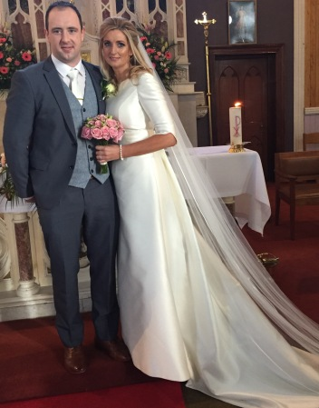 Mairéad Kennedy and Brendan Keehan on their wedding day.