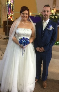 Calire and Leon on their wedding day.