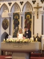 Kevin and Linda on their wedding day.