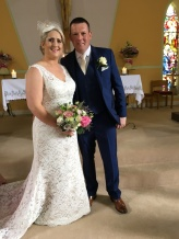 Edel and PJ on their wedding day.