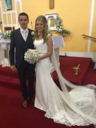 Edel and Kevin on their wedding day- 7 July, 2017.