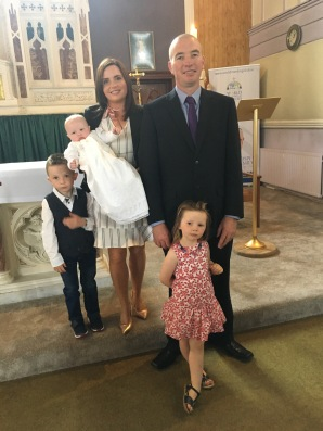 Kalya Irene Power with her parents Irene and Albert and Gavin & Jodie on her baptism day.