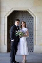 Caroline and Alan on their wedding day.