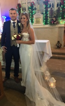 Sinead and Ian on their wdding day.