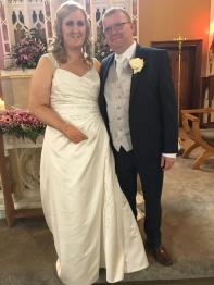 Caroline and David on their wedding day.