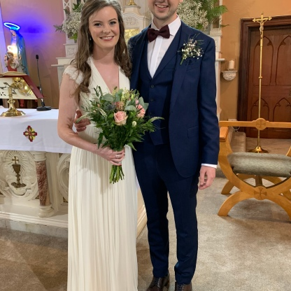Geraldine and Con on their wedding day.