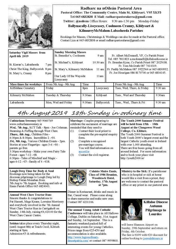 Newsletter | Parish of Coolmeen - Cranny