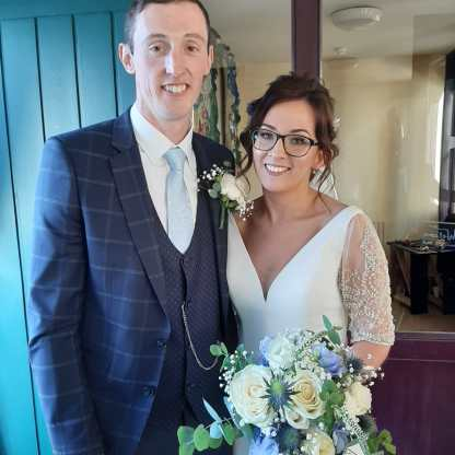 Cathal and Sharon in their wedding day.